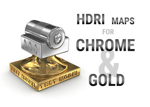 HDRI maps for chrome and gold metal surfaces
