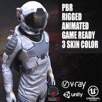 3d model unity space suit