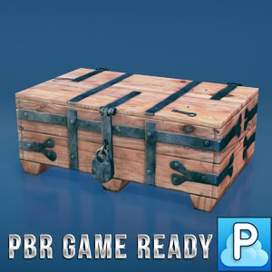 ready medieval chest 3d x