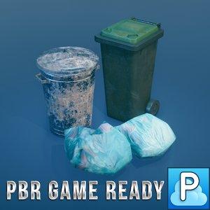 3d model ready bins bags