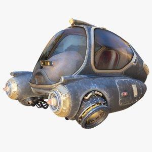 3d max sci-fi ship
