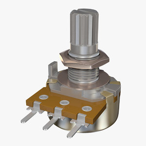 potentiometer electrical 3d 3ds