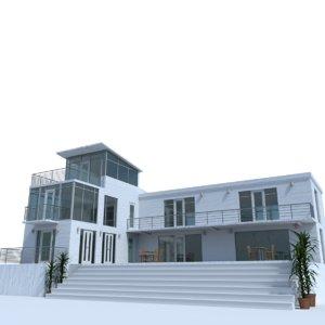 3d model exterior glass