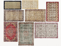 3D old carpets rugs model
