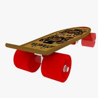 skating board 02 3d 3ds