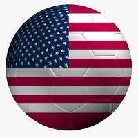 Soccer Ball USA Flag