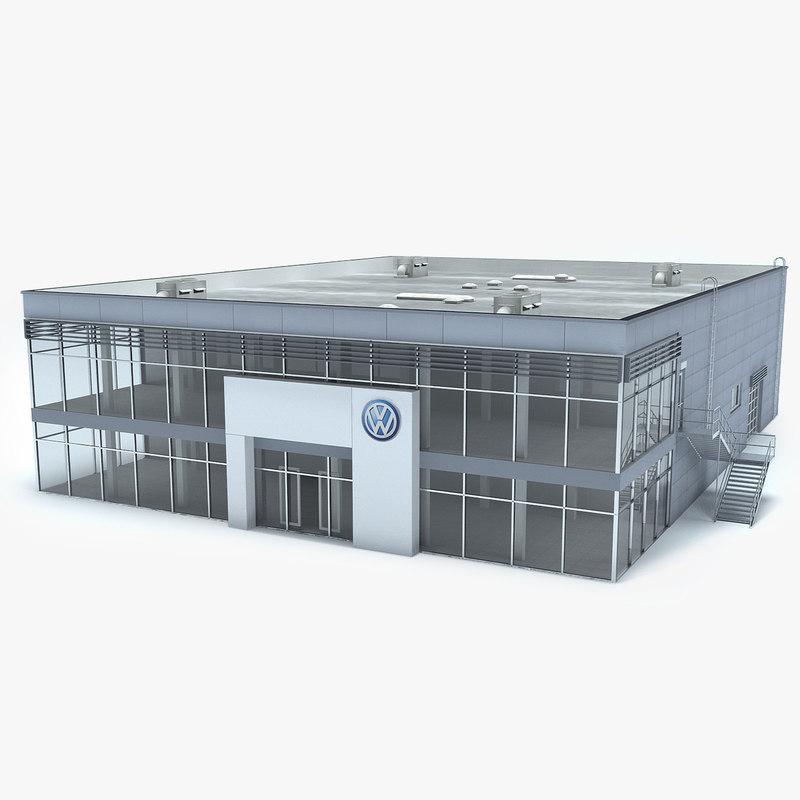 Max Volkswagen Dealership Showroom