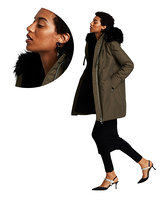 Cut Out Woman with coat