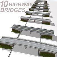 highway bridge set 3ds