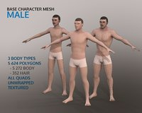 Base Character Mesh - Male