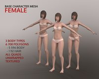 Base Character Mesh - Female