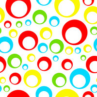 seamless tileable pattern with circles in multiple colors