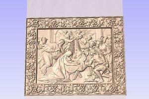 wood relief religion the birth of Jesus stl. file