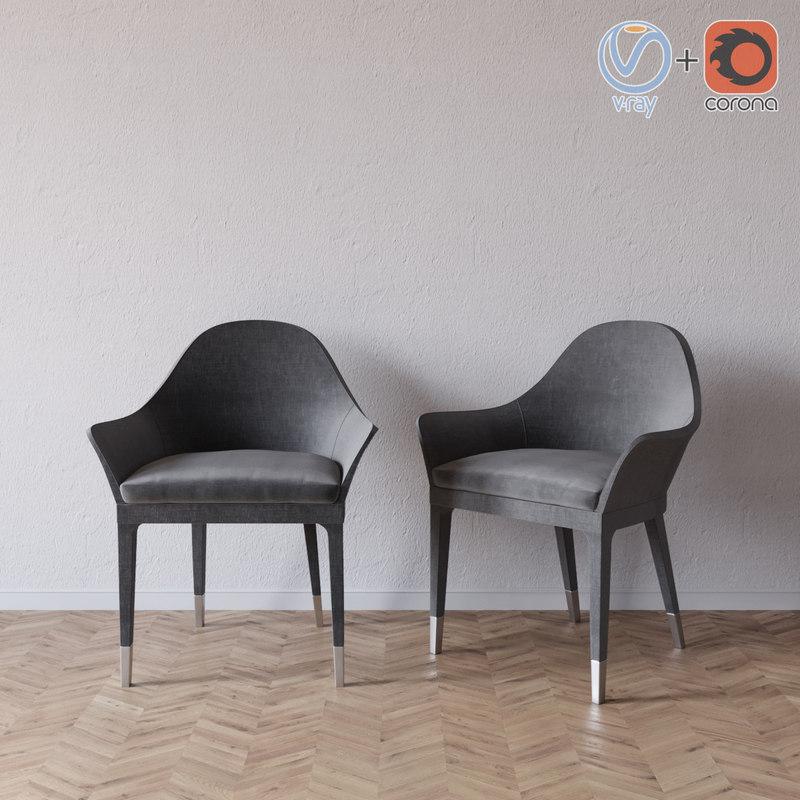 manta armchair smania 3d model