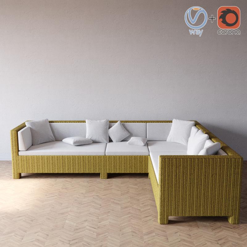 taglio verde outdoor sofa 3d 3ds
