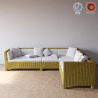 taglio verde outdoor sofa 3d 3ds