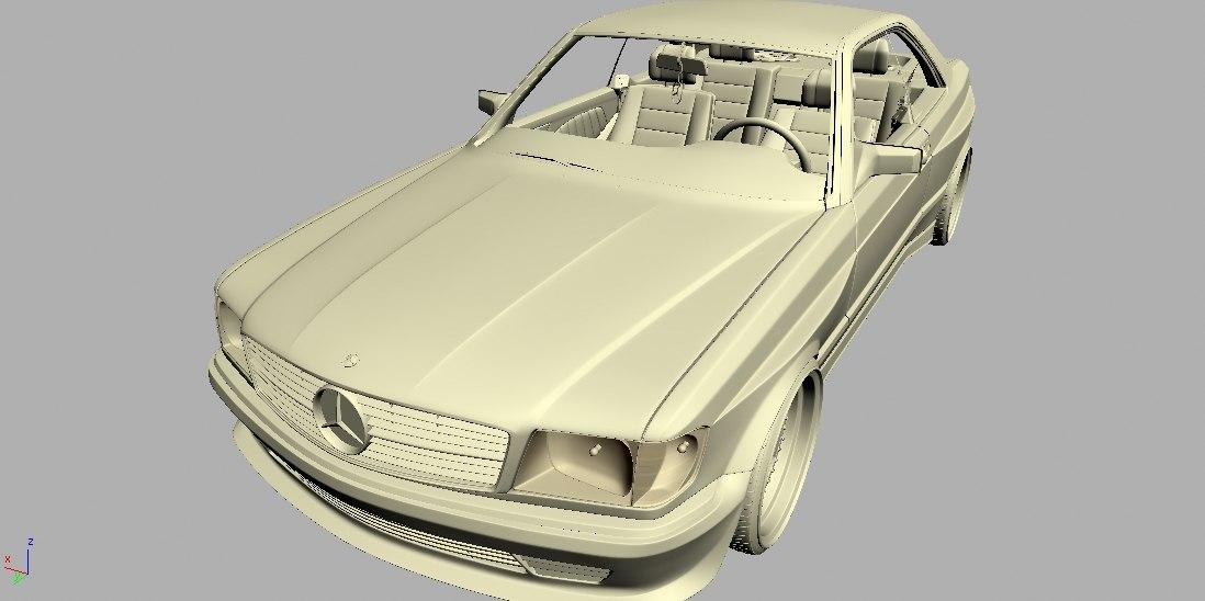 3d model mercedes 126 sec amg