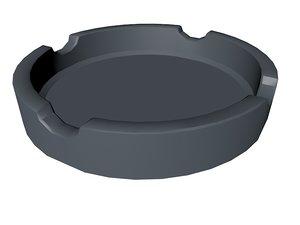 3d ashtray xml dae model