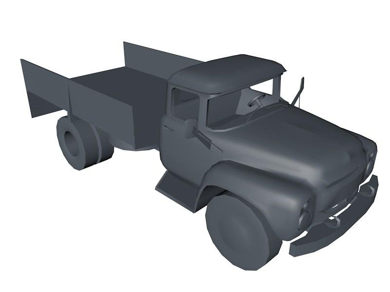 truck car 3d 3ds
