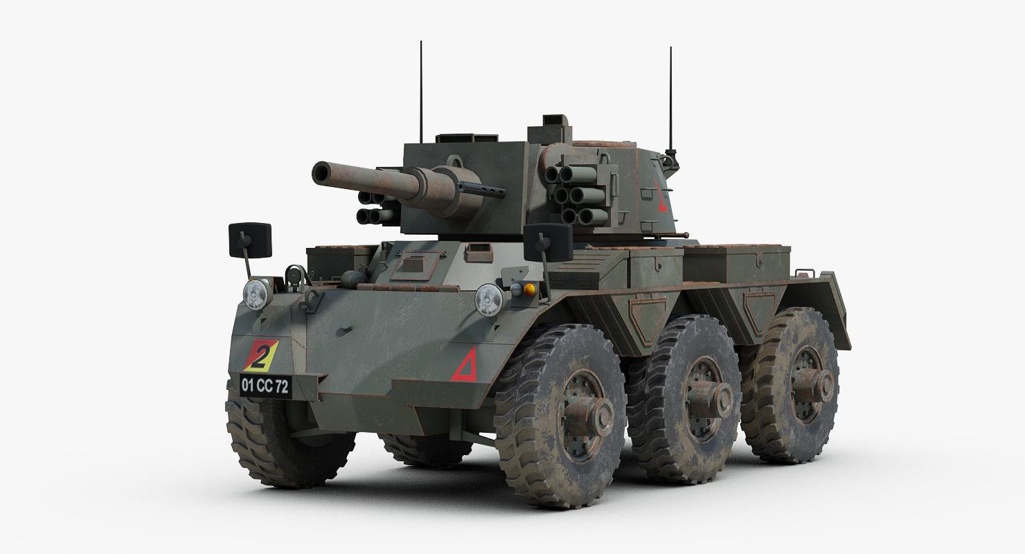 alvis saladin armored 3d model