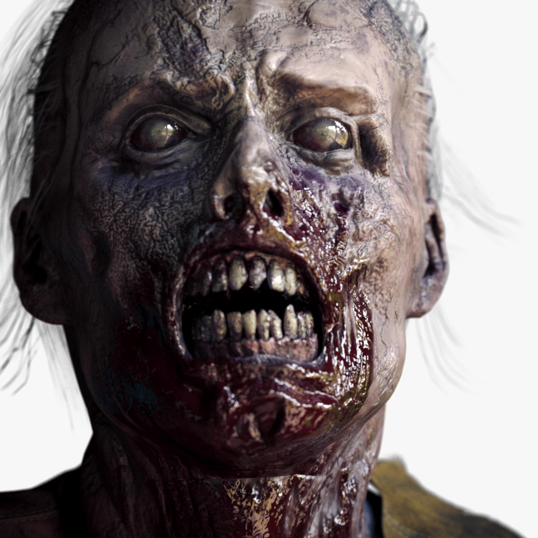 zombie man character pbr 3d model