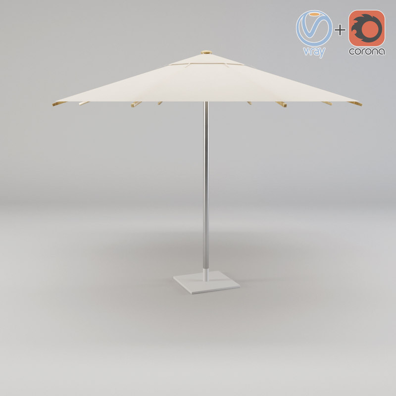 umbrella sha35zu royal botania 3d model