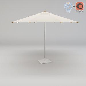umbrella sha35zu royal botania 3d model