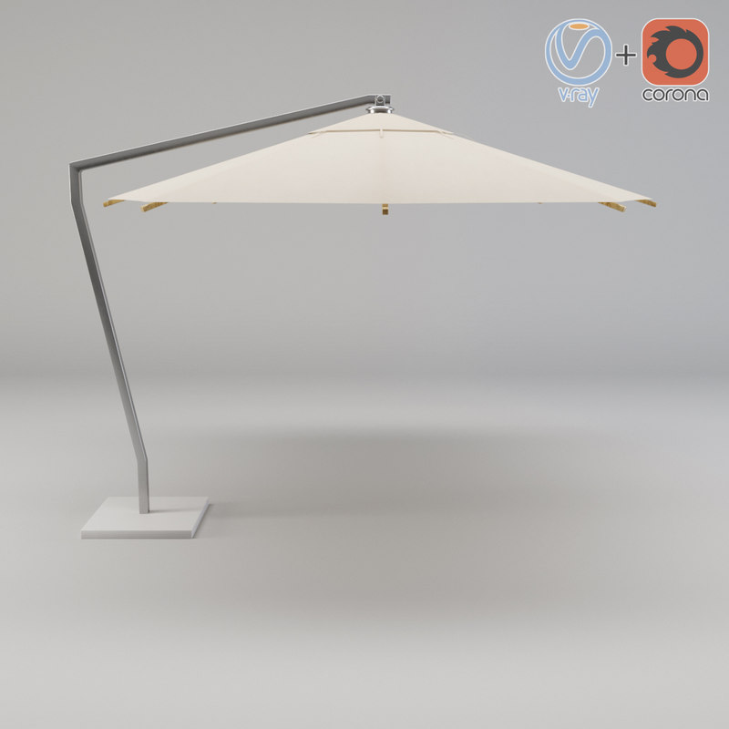 3d umbrella shax40zu royal botania model