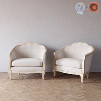 rue bac bleached linen 3ds