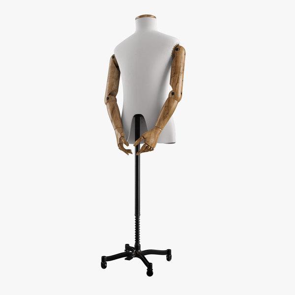 vintage mannequin male 3d max