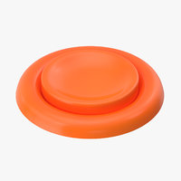 3D button 04 orange