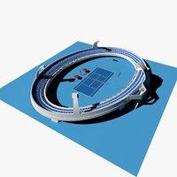 tennis stadium 3d model