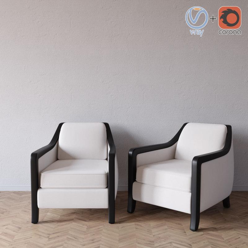 3d davenport armchair powell bonnell