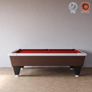 3d pool red model