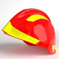 plastic helmet 3d model