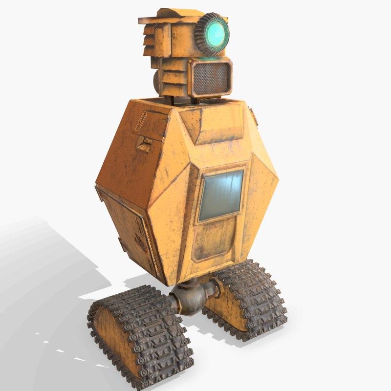 3D ready robot pbr model