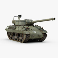 3d model ww2 m36 jackson tank destroyer