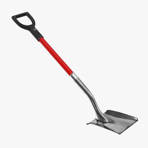 3d model shovel 2 generic modeled