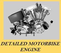 motorbike engine 3d model