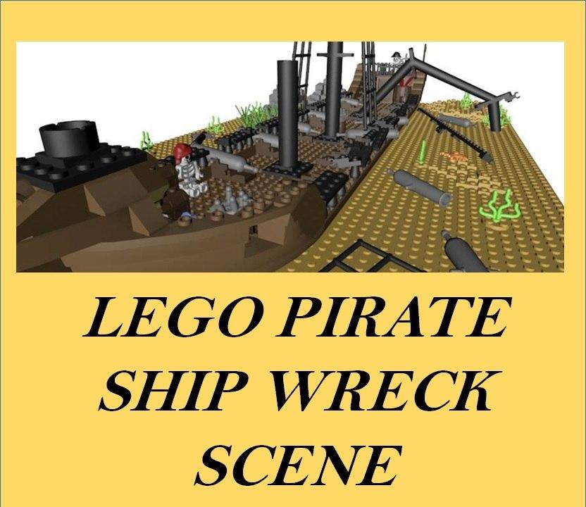 3d lego sunken pirate ship