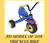 3d model toy tricycle