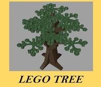 lego tree 3d c4d