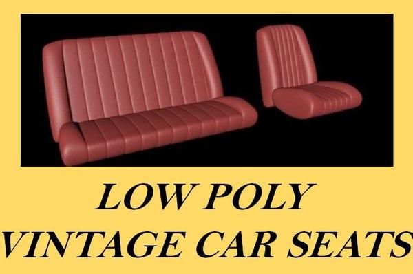 3d model vintage car seat