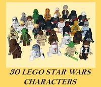 LEGO STAR WARS 30 CHARACTERS (low poly)