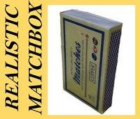 3d match box model