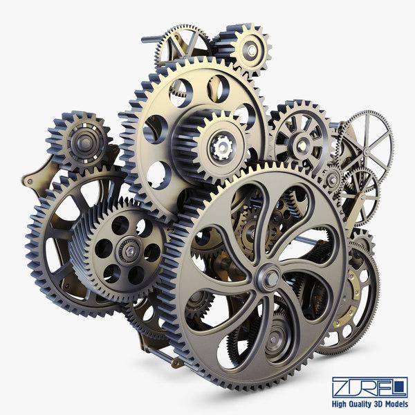gear mechanism v 1 3d model