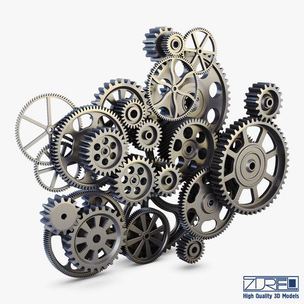 3d gear mechanism v 2