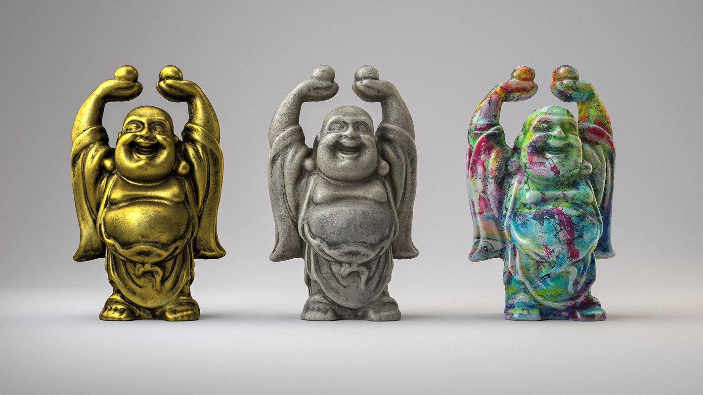 free buddha sculpture 3d model