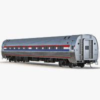 railroad passenger car generic 3d max