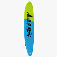 Surfboard Longboard 2 3D Model